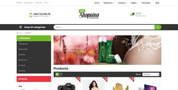 Ap Shopping Center- Responsive Shopify Theme
