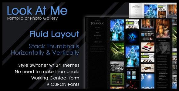 Look At Me - Portfolio/Design/Photo Gallery - Portfolio Creative