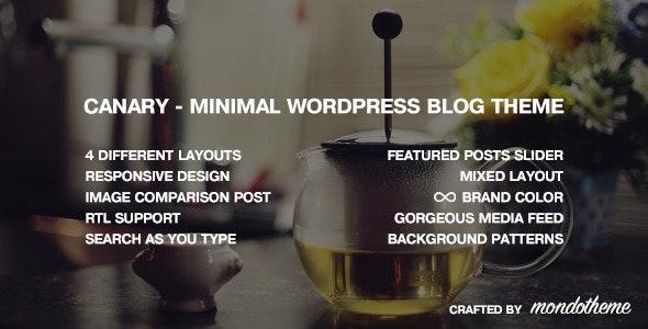 Canary - Minimal WordPress Blog Theme - Personal Blog / Magazine