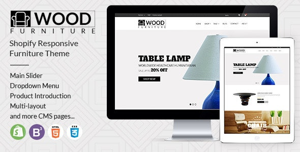 Parallax Shopify Theme - Wood Furniture Decoration - Entertainment Shopify