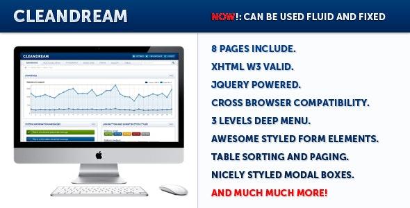 CleanDream - Admin Templates Site Templates