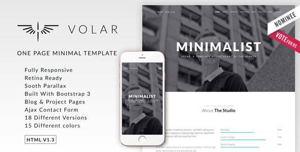Volar   One Page Minimal Parallax Template