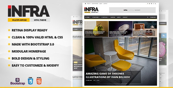 INFRA - News & Magazine HTML Template - Entertainment Site Templates