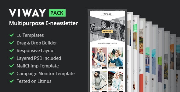 Viway Multipurpose Email Pack + Builder Access - Newsletters Email Templates
