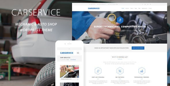Car Service - Mechanic Auto Shop WordPress Theme