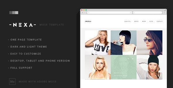 Nexa - Creative One Page Muse Template - Creative Muse Templates