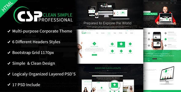 CSP Multipurpose HTML5 Template - Corporate Site Templates