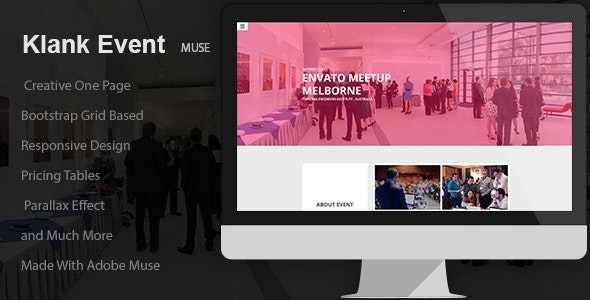 Klank Event | Landing Page Muse Template - Landing Muse Templates