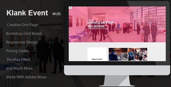 Klank Event   Landing Page Muse Template