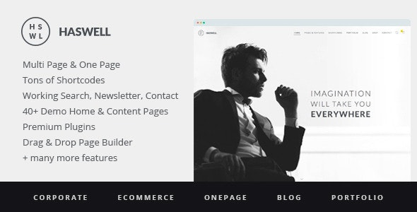 Haswell - Responsive, Multipurpose One & Multi Page WordPress Theme - Business Corporate