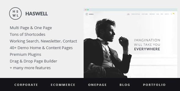 Haswell - Responsive, Multipurpose One & Multi Page WordPress Theme