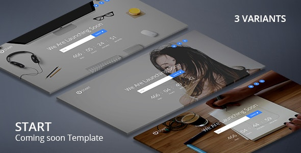 Start - Coming Soon Responsive Template - Under Construction Specialty Pages