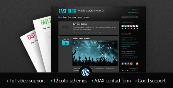 Fast Blog - Personal Blog / Magazine