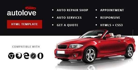 Autolove - Vehicle Repair Mechanic Shop Template - Business Corporate