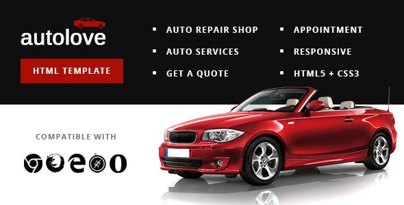 Autolove - Vehicle Repair Mechanic Shop Template