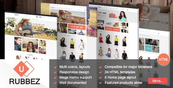Rubbez - Fashion Store HTML Template - Shopping Retail