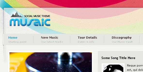 Musaic - Music Theme - Music and Bands Entertainment