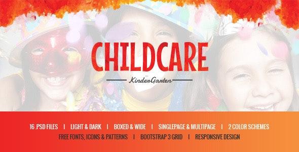 Child Care - Kids & Kindergarten PSD Template - Children Retail