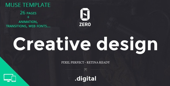 ZER0 - Creative Agency Muse Template - Creative Muse Templates