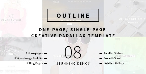 Outline – Creative One Page/Single Page Portfolio - Creative Site Templates