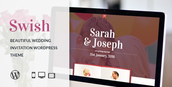 Swish - Modern Wedding WordPress Theme - Wedding WordPress