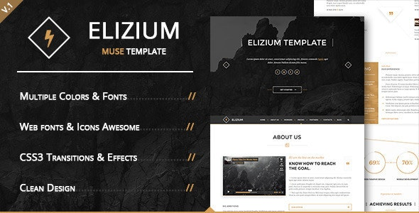 Elizium - Landing Page Muse Template  - Landing Muse Templates