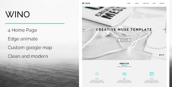 WINO - Creative Multi-Purpose Muse Template - Creative Muse Templates