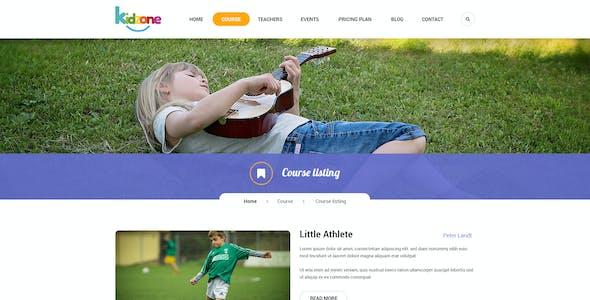 Kidzone - Primary School For Children PSD