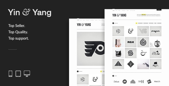 Yin & Yang: Clean & Interactive WordPress Portfolio Theme - Portfolio Creative