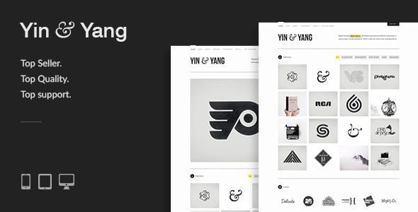 Yin & Yang: Clean & Interactive WordPress Portfolio Theme