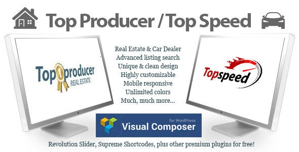 Top Producer Real Estate and Top Speed Car Dealer - Real Estate WordPress