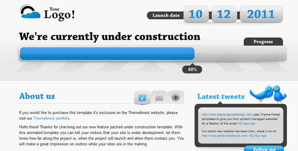 Animated Under Construction - Twitter & Ajax forms