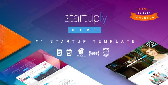 Startuply  Responsive Multi-Purpose Landing Page - Creative Landing Pages