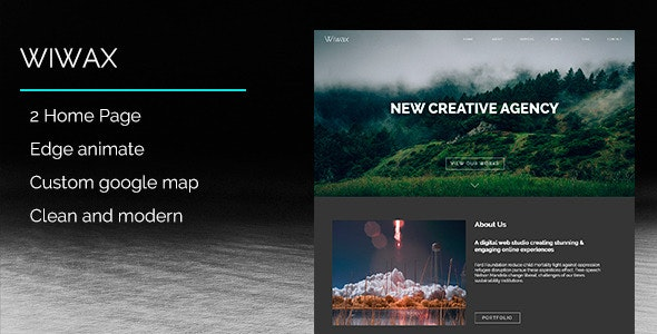 WIWAX - Creative Multi-Purpose Muse Template - Creative Muse Templates