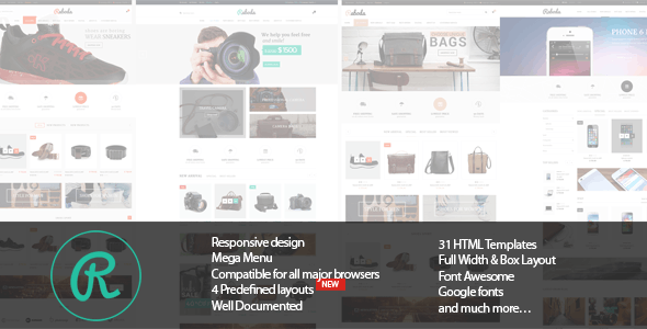 Electronics Fashion Store HTML Template - Raboda - Shopping Retail