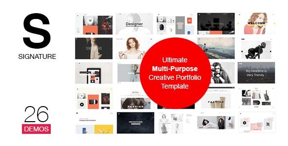 SIGNATURE - Multi-Purpose / Many Concept Portfolio - Portfolio Creative