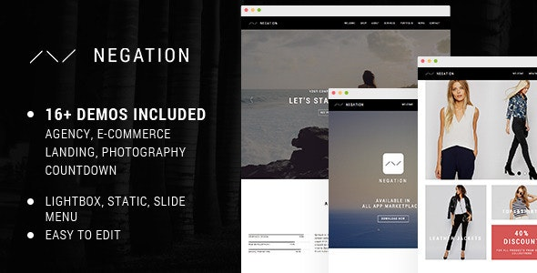 Negation - Agency | App | Shop | Photography Theme - Creative Muse Templates