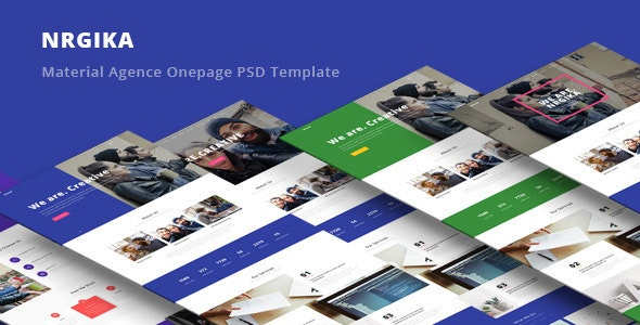 NRGika - Material Design Agency Template - Portfolio Creative