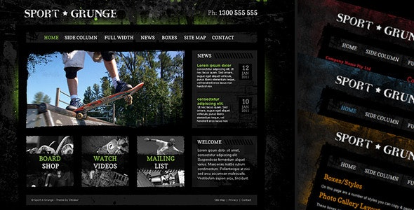 Sport and Grunge - HTML - Creative Site Templates