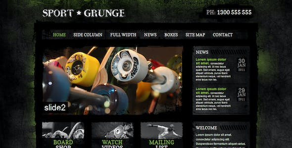 Sport and Grunge - HTML