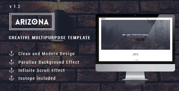 Arizona - Creative Multipurpose Template - Creative Site Templates