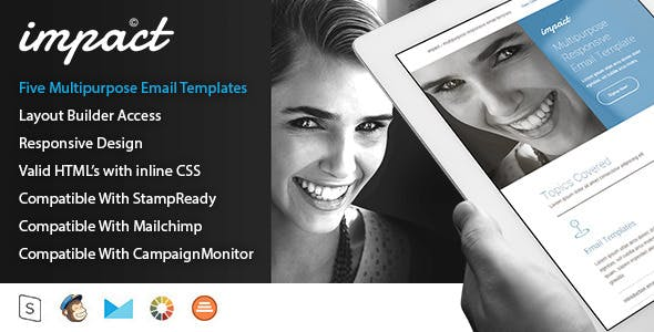 Impact - Five Multi-Purpose Email Templates
