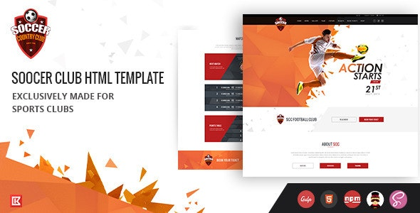 Soccer Club | Sports Agency HTML Template - Miscellaneous Site Templates