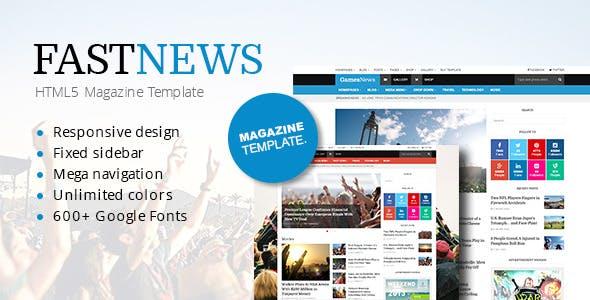 FastNews — Responsive Magazine Template