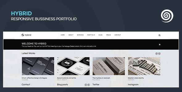 Hybrid - Corporate & Creative Wordpress Portfolio - Portfolio Creative