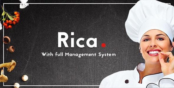 Rica - Multipurpose Restaurant & Cafe PSD Template - Retail Photoshop