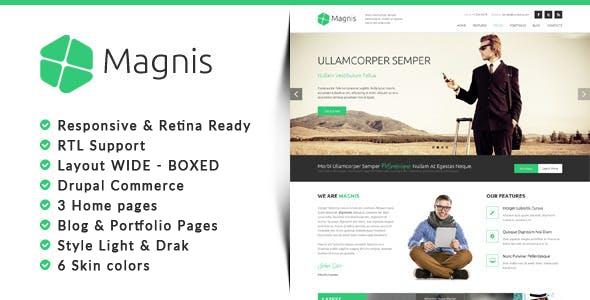 Magnis - Corporate Multipurpose Drupal 7.6 Theme