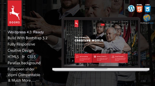 Doors - Parallax Responsive One Page wordpress theme - Business Corporate