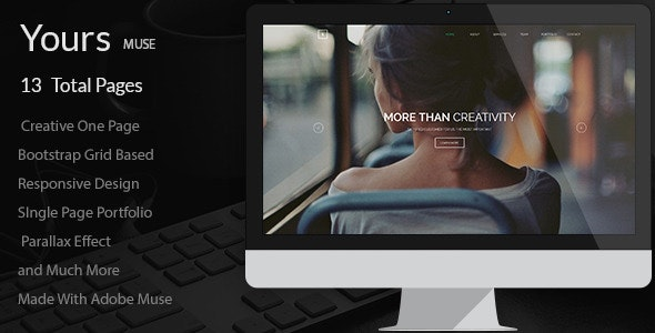 Yours - Creative Onepage Adobe Muse Template - Creative Muse Templates