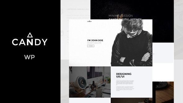 Candy   One & Multi Page WP - Creative WordPress
